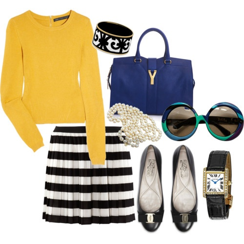 Loving the yellow and stripes