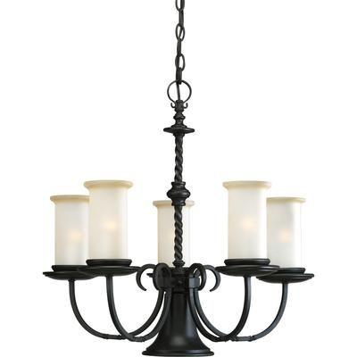 Progress Lighting - Santiago Collection Forged Black 5-light Chandelier - 785247134298 - Home Depot Canada