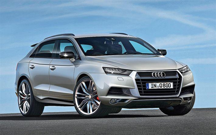 Descargar fondos de pantalla Audi Q9, 2018 coches, Todoterrenos, coches de lujo, Audi, coches alemanes