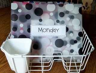Use a dish rack to stay organized.