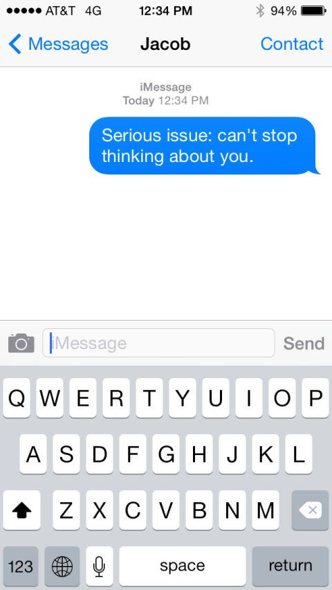 What to say to a cute guy over text