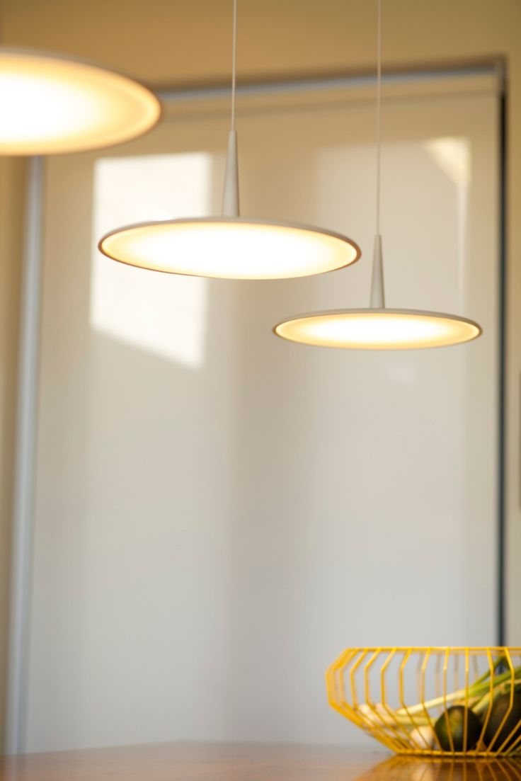 Kitchen of an invinting urban home in Cape Town, South Africa. Project by ESTABLISHMENT. Energy-efficient #SKAN LED hanging lights http://www.vibia.com/en/lamps/show/id/02704/hanging_lamps_skan_0270_design_by_lievore_altherr_molina.html Photographs: Brian Seymour Shoote & Create