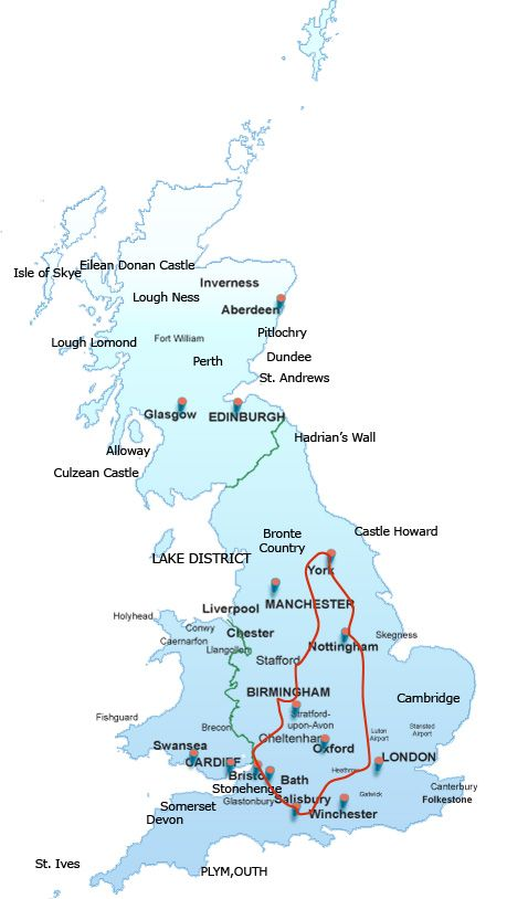 Essential England, Britain + UK Vacation Packages - England, Scotland and Wales Travel Tours 2012