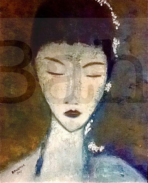 Jasmine Huile 30x30 Joss Bahuaud