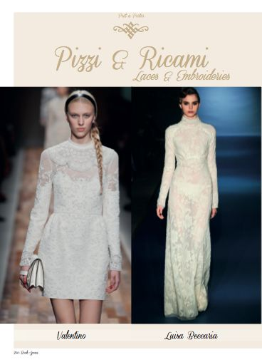 Focus on Valentino and Luisa Beccaria laces & embroideries in Prêt-à-porter Paris-Milan chapter. #Valentino #LuisaBeccaria #Prêt-à-porter #style #fashion #womans #fashion #bride #wedding