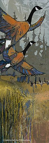 Jean-Pierre Guay, 'Le couple', 15'' x 42'' | Galerie d'art - Au P'tit Bonheur - Art Gallery