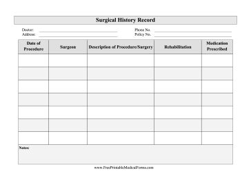 12 Best Images About Medical Forms On Pinterest Each Day