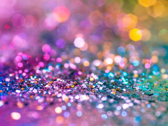 Colorful Glitter Wall Art Sparkle Pink Blue Rainbow Photo