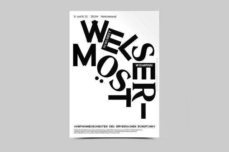 "bureauborsche:  ""Bureau Mirko Borsche – Season Posters Symphonieorchester des Bayerischen Rundfunks  """