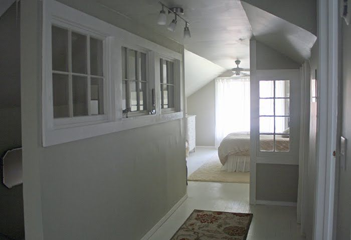 Using Old Windows As Interior Wall Well The Wall With