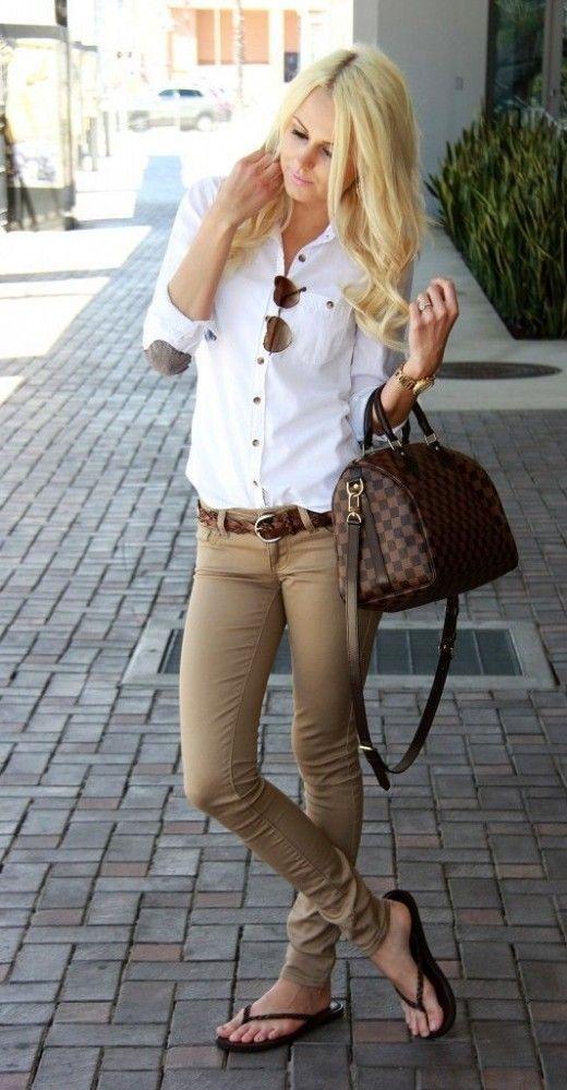 fantastic khaki pants outfits for women 12