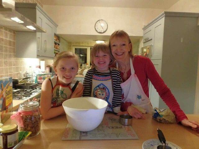 Baking with my grandchildren ☺