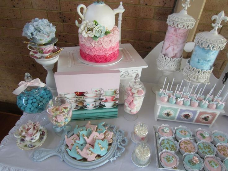 High tea party via babyshowerideas teaparty party baby for Dekoration fur babyparty