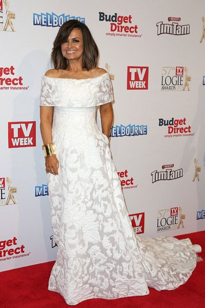 Lisa Wilkinson in Pallas Couture at the 2015 Logie Awards.