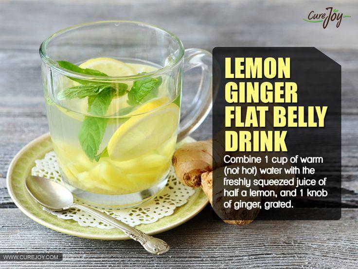 Lemon-Ginger Flat Belly Drink www.pathtohealthandhealing.com
