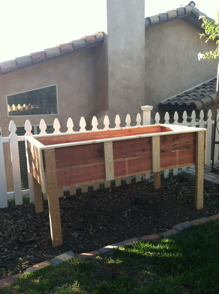 First Of Two Elevated Garden Boxes. My Honey Do Man Rocks! Wood TypesMy ...