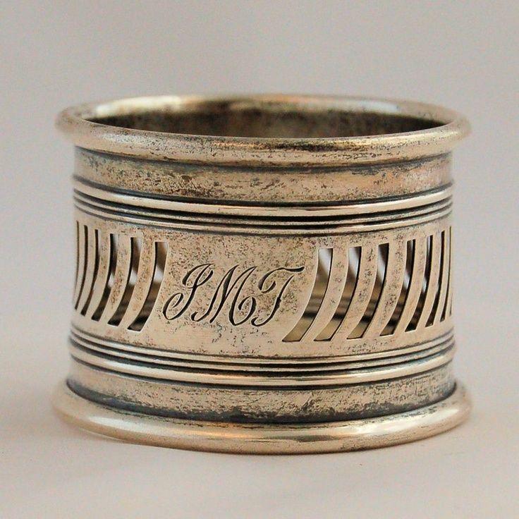 Antique Gorham Sterling Silver Napkin Ring Pierced Work from Antik Avenue on Ruby Lane
