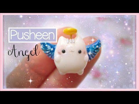 Kawaii Pusheen Cat Angel Polymer Clay Tutorial