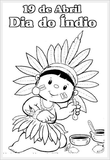 desenhos para o dia do índio para colorir