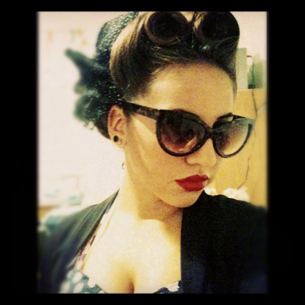 One more pic of my Victory Rolls Updo