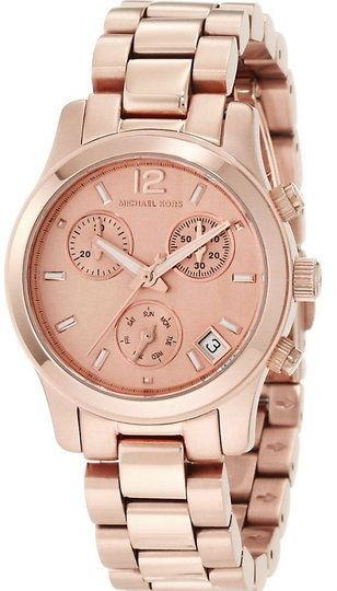 Buy this authentic Michael Kors MK5430 Mini Runway Chronograph Women's Rose Gold SS Watch On Sale at WatchWarehouse.com. Free Shipping 30 Day Money Back