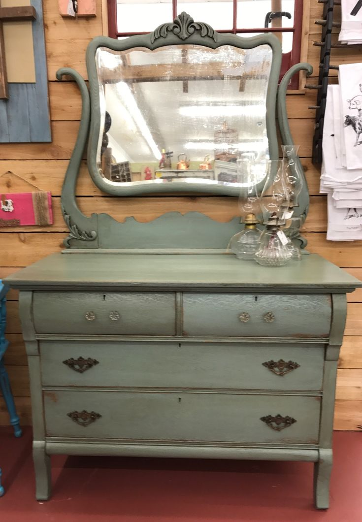 Antique Dresser Painted With #dixiebellpaint Vintage Duck Egg Available At  Commerce Street Market
