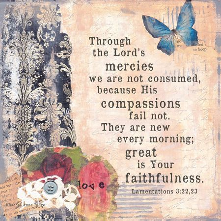 Lamentations 3:22 ~ new every morning