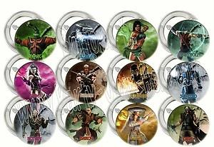 "Mortal Kombat Video Game Large 2"" Buttons/Pins Party Favors (12 pcs)"