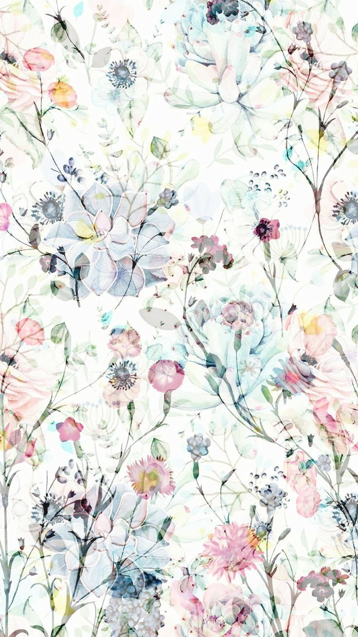 Pattern Flowery Wallpaper Floral Wallpaper Art Wallpaper