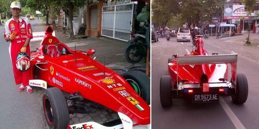Wow Pria Lombok Ciptakan Ferrari F1 Nya Sendiri