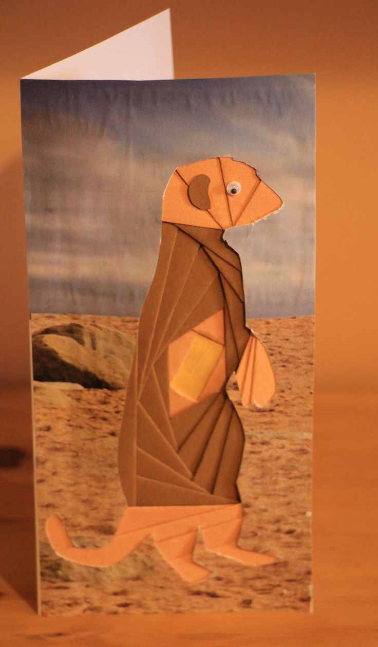 A Birthday Card For My Meerkat Mad Husband Iris Teabag Folding