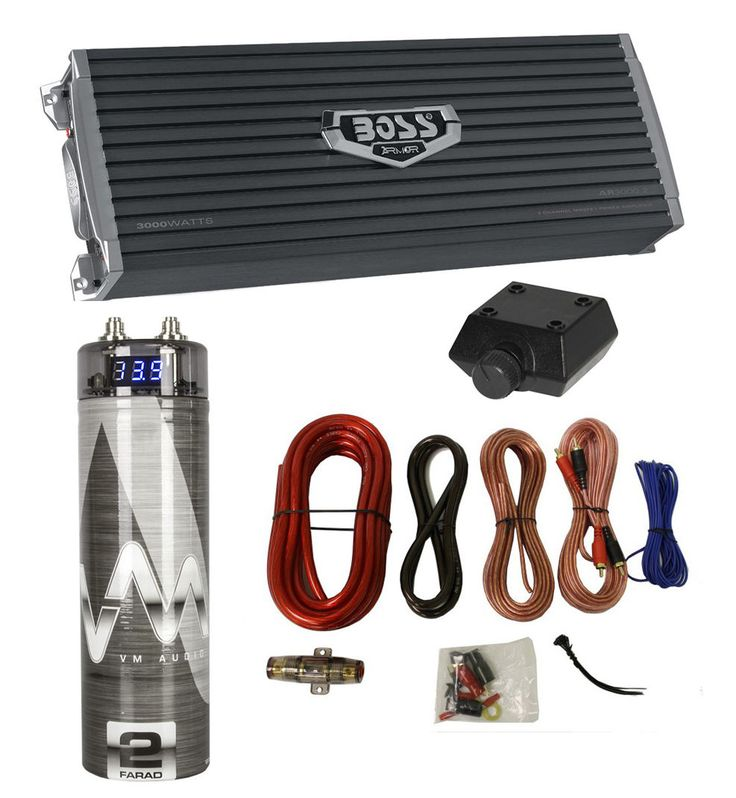 NEW Boss AR3000.2 3000 Watt 2-Channel Car Audio Amplifier  Capacitor  Amp Kit