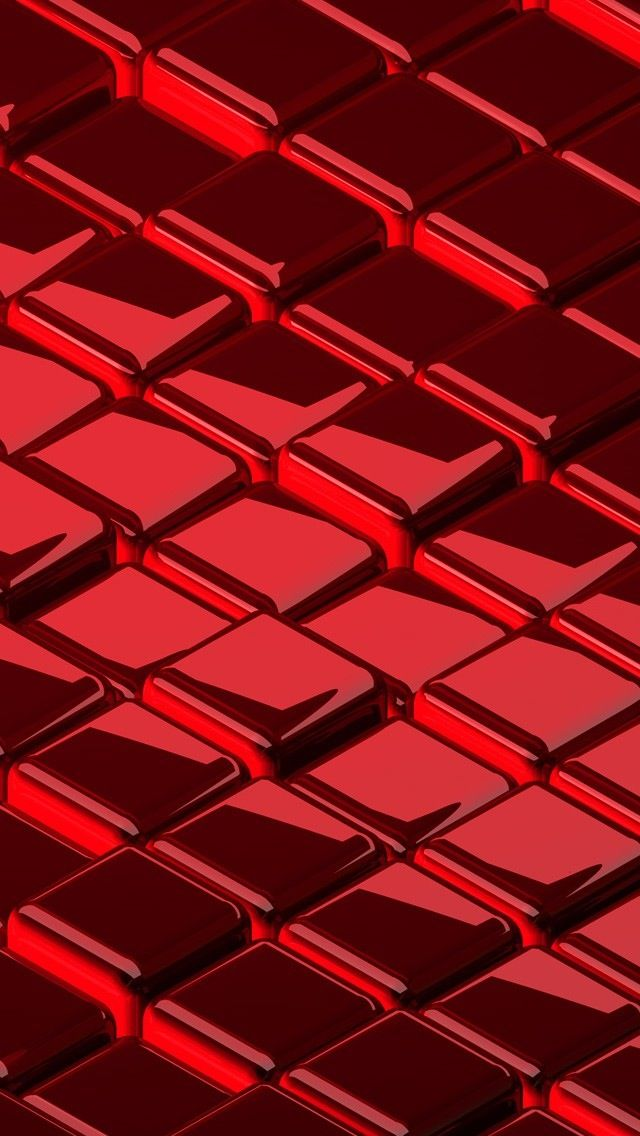 Unicolor Shining Pattern Cube Geometric Red Bright Hd Iphone 5 WallpapersPhone