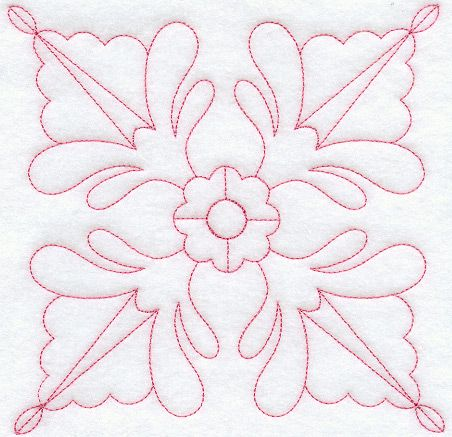 Indiana Rose Quilting Square (Double Run) design (B2160) from www.Emblibrary.com