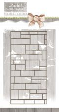 Precious Marieke stencil - Rustic Christmas - Brick Wall PM10045