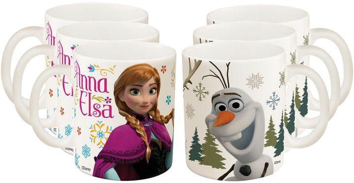 "Zak! Designs® ""Frozen"" Anna, Elsa and Olaf Mugs (Set of 6)"