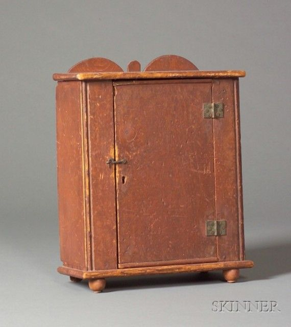 Small Red-Painted Pine Cabinet | Sale Number 2384, Lot Number 412 | Skinner  Auctioneers - Small Red-Painted Pine Cabinet Sale Number 2384, Lot Number 412