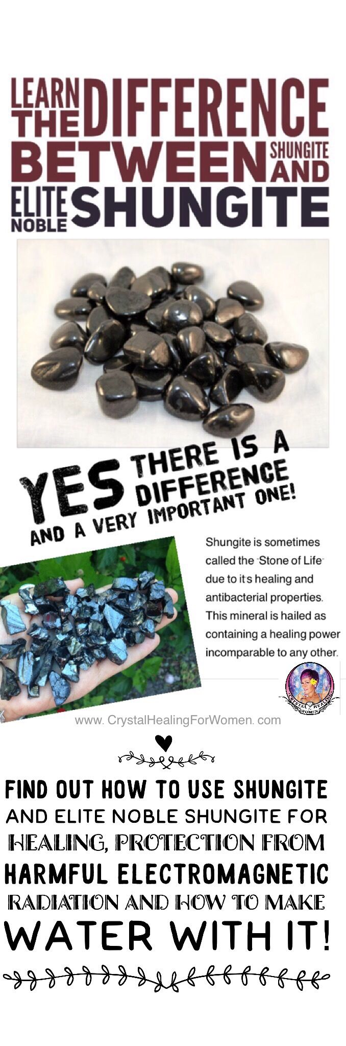 Learn The Difference between Shungite AND Elite Noble Shungite. For healing, harmful electromagnetic radiation and to make water!