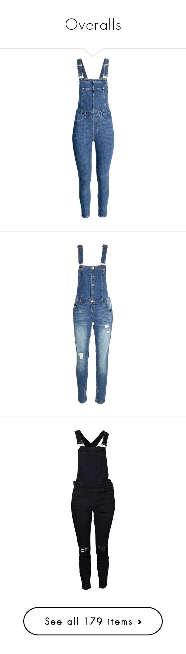 """Overalls"" by rebellious-ingenue ❤ liked on Polyvore featuring jumpsuits, bottoms, jeans, pants, dresses, bib overalls, blue overalls, h&m jumpsuit, overalls jumpsuit and blue bib overalls"