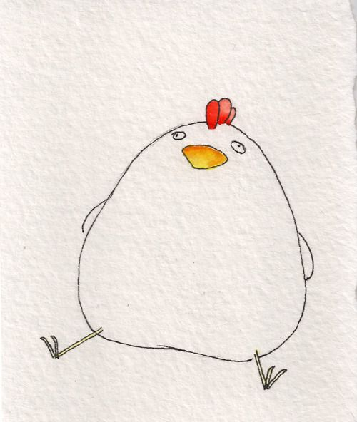 Look at this drawing of a fat chicken. You're welcome.