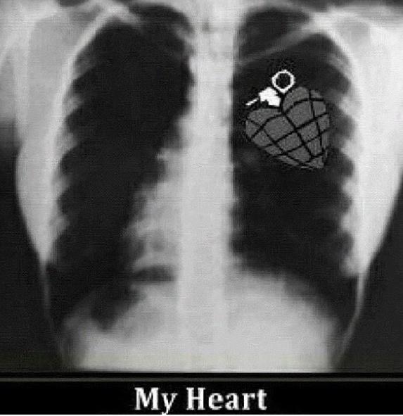 A ture fan's heart.