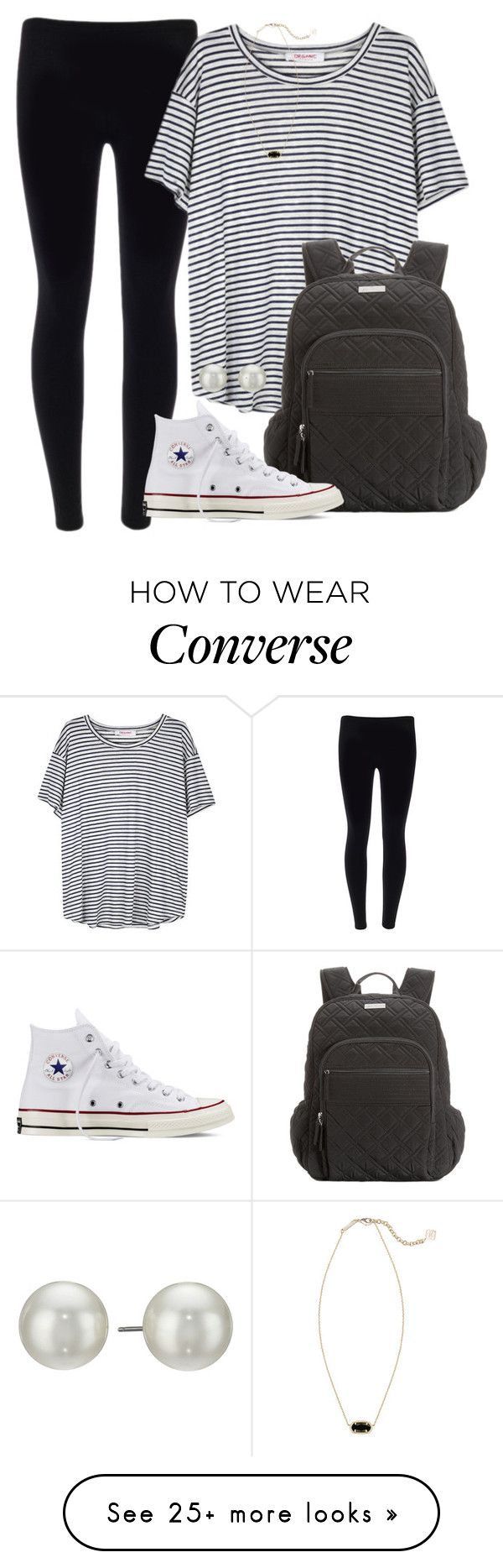 """Good morning guys!"" by abbybp42 on Polyvore featuring Organic by John Patrick, Kendra Scott, Vera Bradley, Converse and Kenneth Jay Lane"