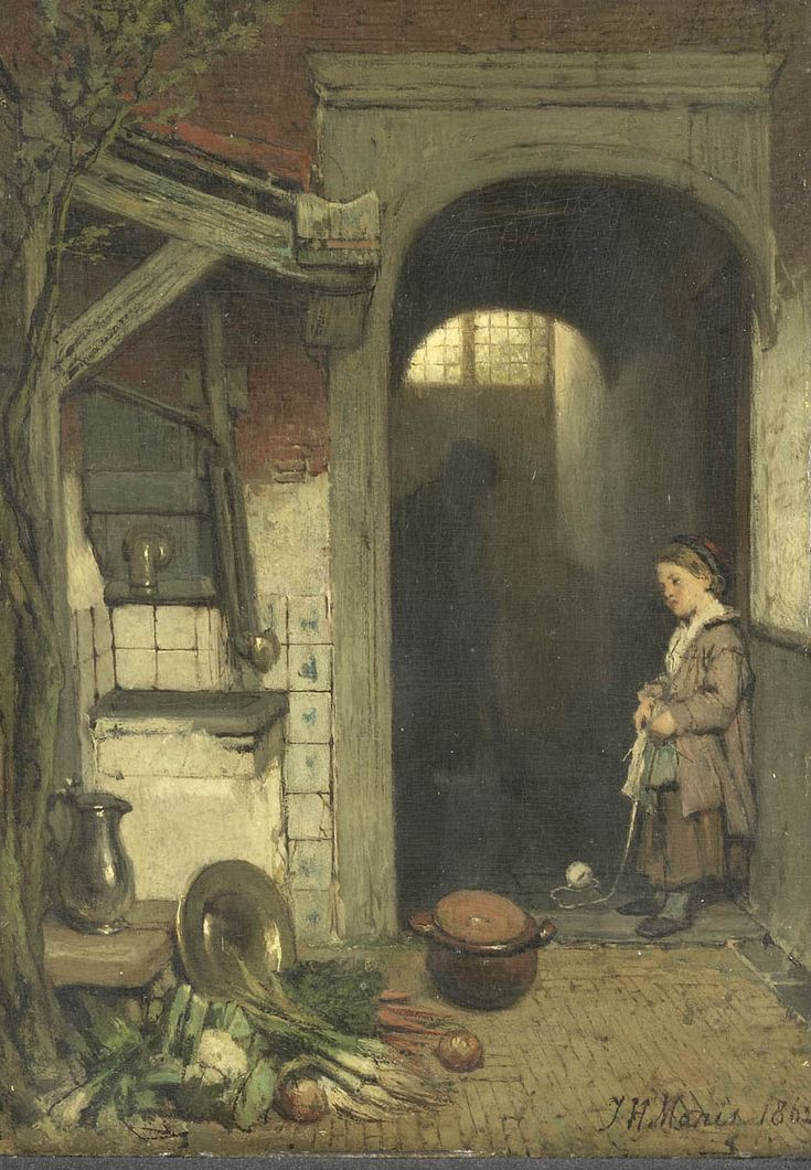 Behind the House  Jacob Maris - 1862