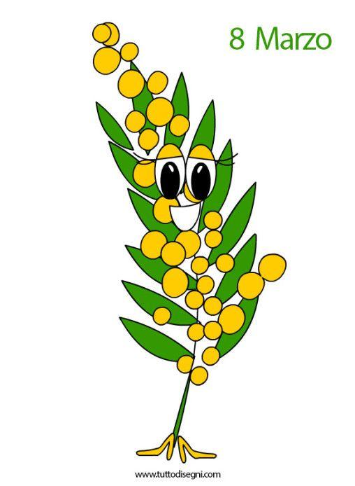 Biglietto Festa Della Donna Con Mimosa Tuttodisegnicom T