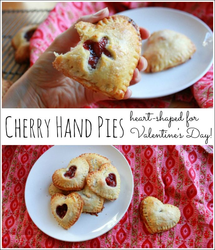 Cherry Hand Pies -- Heart Shaped for Valentines Day!