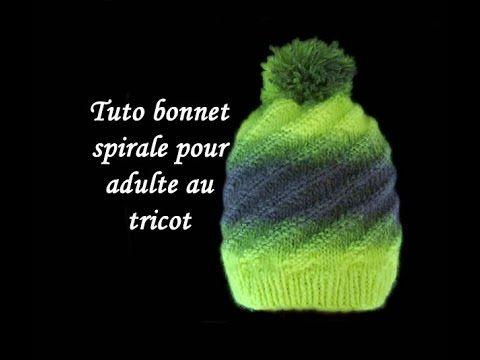 TUTO BONNET SPIRALE TOURBILLON AU TRICOT FACILE cap spiraling vortex easy knitting - YouTube