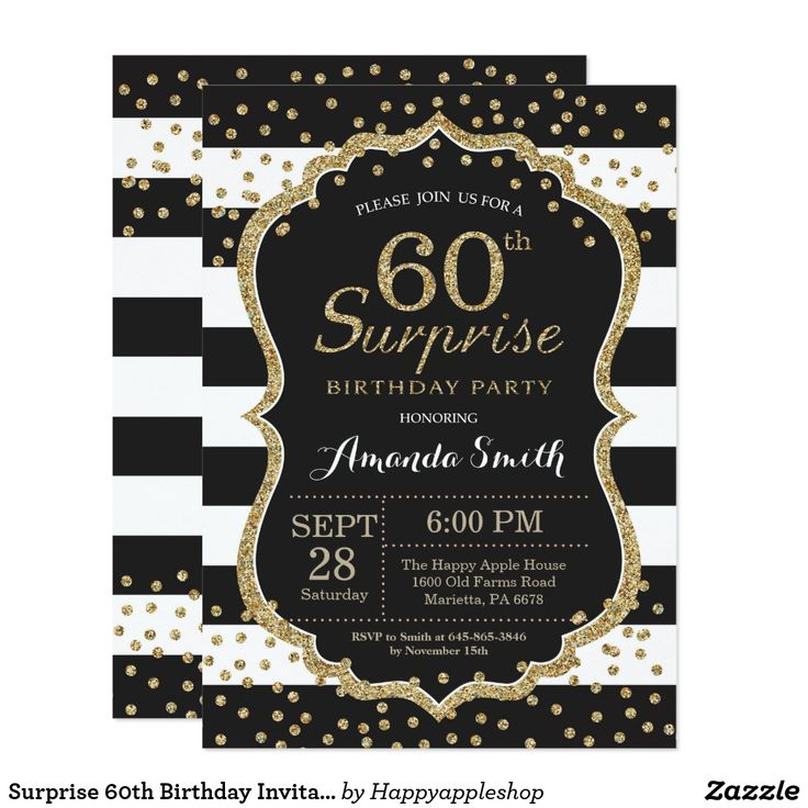 60 best Surprise Party Invitations images on Pinterest | Surprise ...