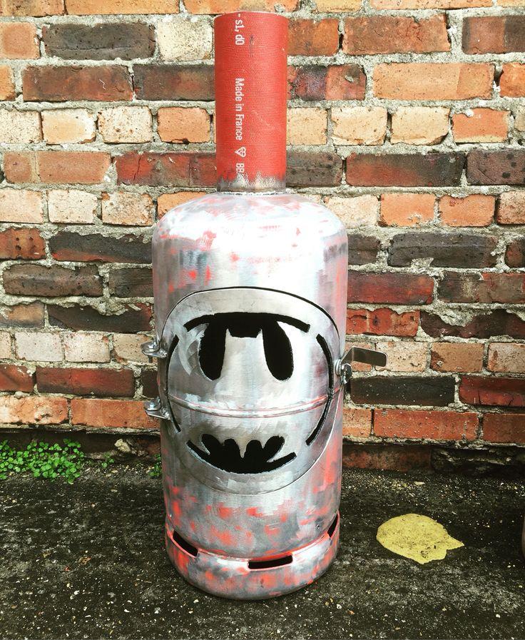 Gas bottle woodburner Batman
