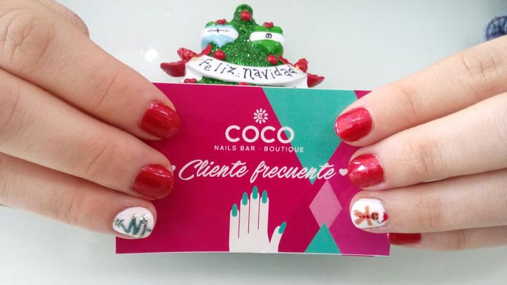 Xmas nail art Gelish