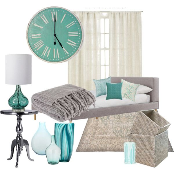 """""""Grey and Teal Bedroom"""" by lauriecilley on Polyvore"""